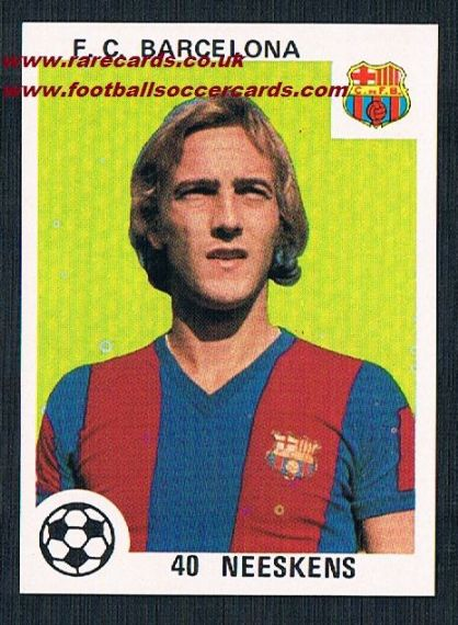 1970s Spanish Neeskens playing card
